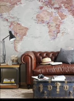Maps as home decor.