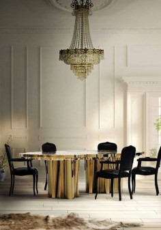 Modern. Vintage. Glam. Gold. Black. White. Home. Dining. Design. Decor. Chandelier. Opulence. Disco. Art Deco. Gatsby.