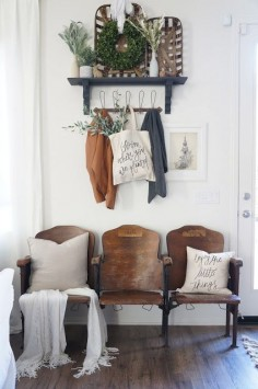 Perfecting the Homefront: Vintage Theater Seat Entryway