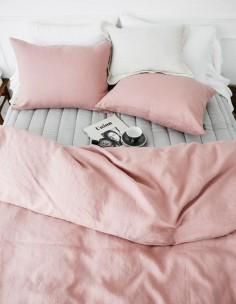 Pink, grey, white