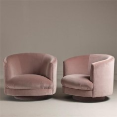 pink velvet armchairs