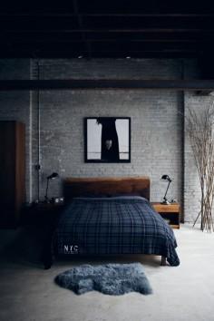 Quiero una pared así, con una duela gris también