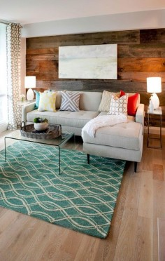 rug and wall
