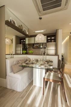 Sala de jantar apartamento de 2 dormitórios do Follow