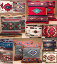 There is no easier way to incorporate southwest style into your home decor than by adding a few beautiful accent pieces like southwestern pillows. Our southwest style pillow covers feature an outstanding old style Zapotec Indian design for classic southwestern or western decor. The many colors and design options allow you to create just the right look. Find great southwestern pillows and other rustic decor at