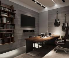 Ukrainian Bachelor Pad Blends Both Light and Dark Interiors