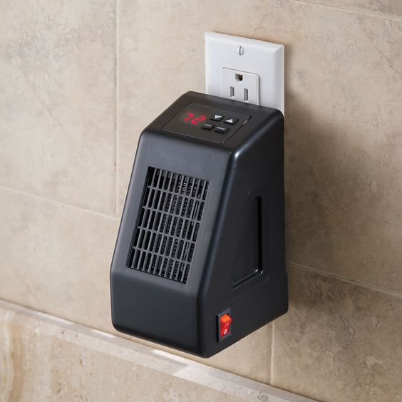 $ I love this for the price and it heats a room 10 x 25 (250 sq ft.) and also has a timer that can be set to turn the heater on automatically!!! The Wall Outlet Space Heater - Hammacher Schlemmer