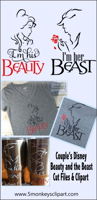 Couple S Beauty And The Beast Svg Files For Silhouette