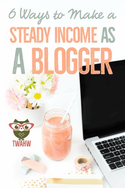 Great tips for making your blogging income more steady and consistent.