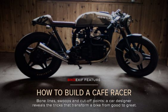 How to build a cafe racer: a guide to keep the basic angles in mind when custom building.