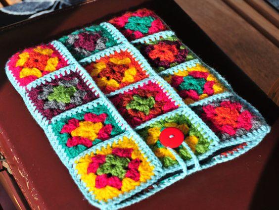 IPad Case IPad Cover IPad Sleeve Colourful Retro Crochet