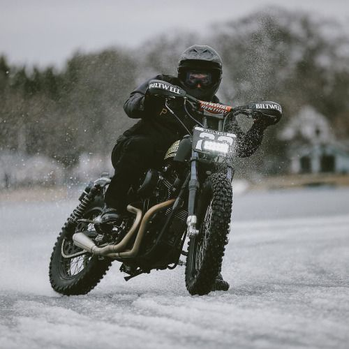 overboldmotorco:  Hooligan on the #flattrack & hooligan  RideOrDie Ride Riding Let's Ride