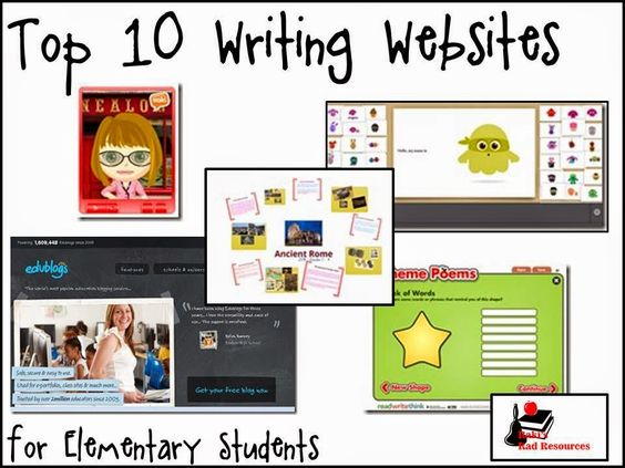 Raki's Rad Resources: Top 10 Writing Websites for the Elementary Classroom. Use these writing websites for authentic keyboarding practice in 4, 5, 6.
