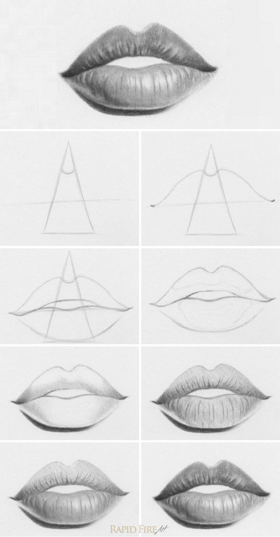 tutorial  how to draw lips a very simple way to draw lips  you can even use this method to draw