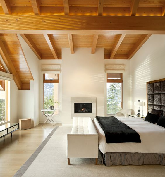 Airy yet comfortable bedroom. Love it!