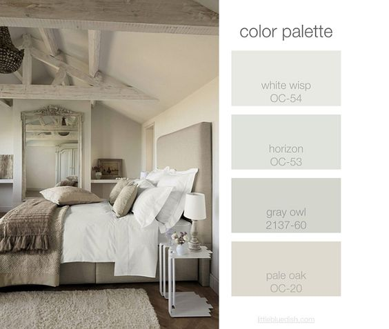 Bedroom Color Palette White Wisp Oc 54 Benjamin Moore Horizon Oc 53 Benjamin Moore Gray Owl