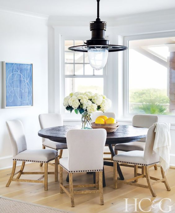 Inside a Dreamy Amagansett Beach House Kitchen.