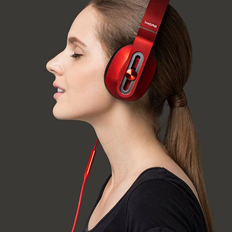 MK801 Headphones - Red - by 1MORE #MONOQI