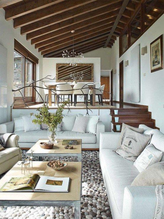 Post estilo r stico renovado para una casa en la cerdanya blog interiores decoraci n casas - Casa de campo decoracion interior ...