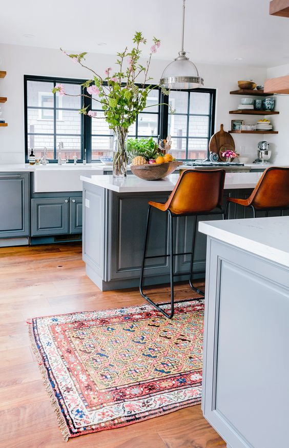 rugs in kitchens