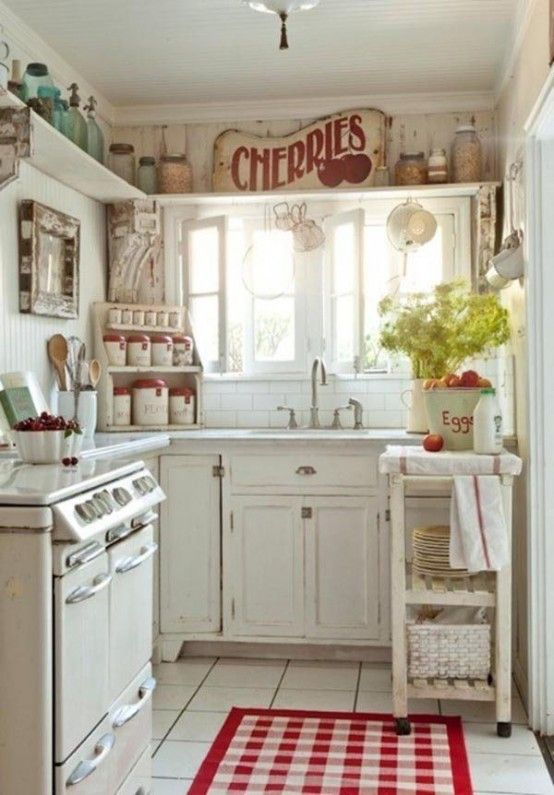 Shabby chic style is so charming, so beautiful and so cute! I think it's rather girlish, too, so if you are going to decorate a feminine home, this style is perfect. Today I've rounded up some amazing shabby chic kitchens, and believe me, they won't leave you indifferent! Go for light and pastel colors