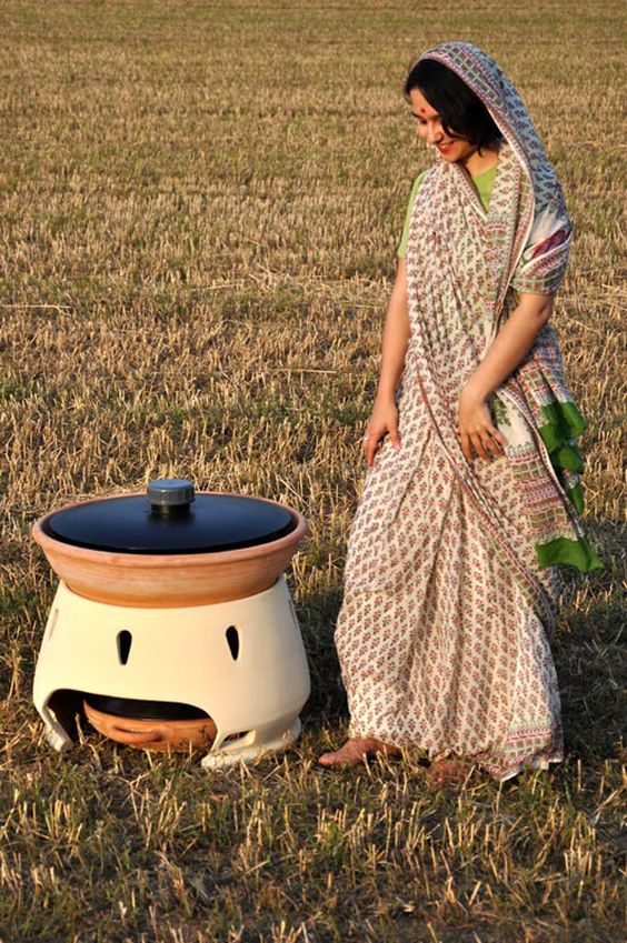 Solar-powered water distiller, meant to provide 5 liters of drinkable water every day. Brilliant.