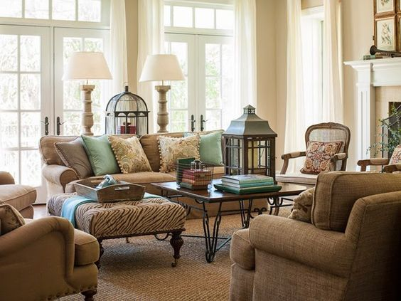 Tan And Turquoise Living Room In The Washington Dc Home Of Christen Bensten Of Blue Egg Brown