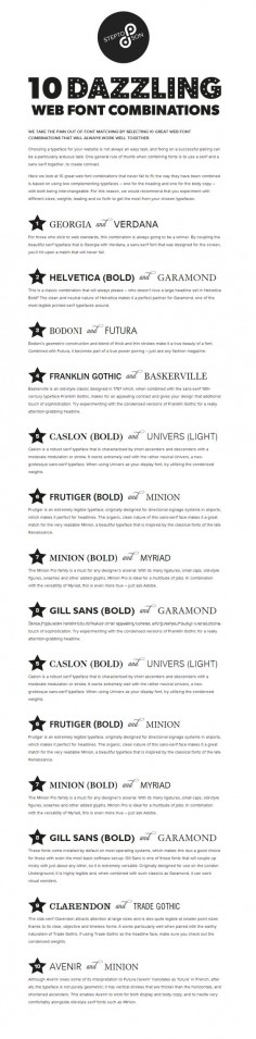 10 dazzling web fonts combinations