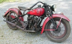 1936 indian sport scout, sort of the Rat Rod of the Indian world.
