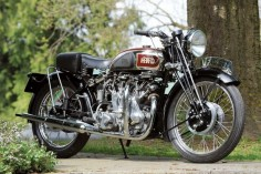 "1939 Vincent Series A Rapide. Because of its profusion of external oil pipes, tubes and hoses, the Vincent Series A Rapide did indeed earn the epithet ""Plumber's Nightmare."""