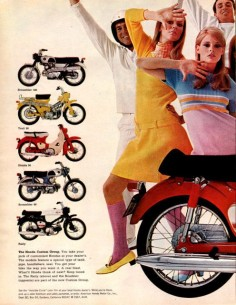 1967 Honda 90 Roadster motorcycle two page print ad by Vividiom, $