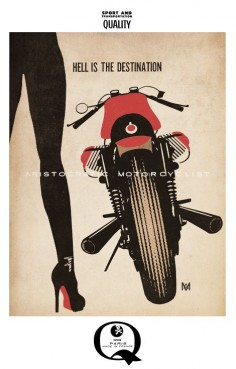Aristocratic Motorcyclist Artwork – Moto Lady i like this