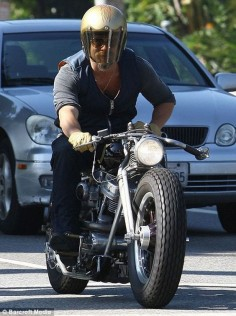 Brad Piit Angelina Jolie's husband is also known as one of the few actors who love the two-wheeled vehicles. Starting from the Ducati Desmosedici RR, Ducati Monster 696, and Harley-Davidson choppers.