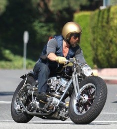 Brad Pitt on one of his many cool bobbers