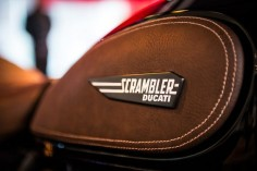 Brown leather ducati scrambler