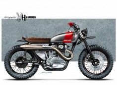 "Cafè Racer Concepts - Yamaha XS 650 ""Scrambler"" by Holographic Hammer"