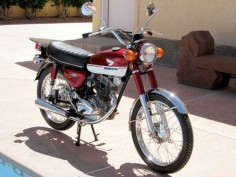 Chris Keele's 1971 Honda CB100. Read about Chris' restoration of this bike at