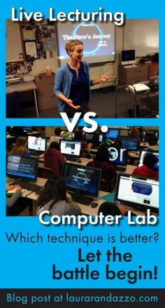 Classroom lecturing vs. self-guided notes in the computer lab – click here to find out the results of one teacher's experiment. #secondary #highschool #middleschool