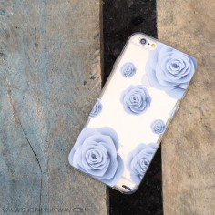 "Clear Plastic Case Cover for iPhone 6 ("") Paper Rose"