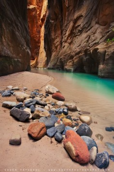 Coast to Coast Dream Hikes. Zion Narrows, Zion National Park. Utah.