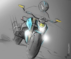 `concept motorcycle sketch