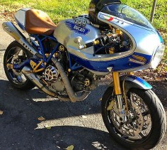 Custom made Ducati by jp-unique. The best DUCATI PAUL SMART ever made. It is for sale!!  It's hard to let it go.  )-: