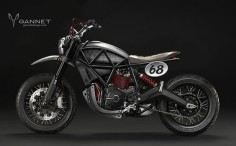 Ducati Scrambler Mock-Up with a dirt bike inspiration