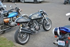 Ducati Sport Classic looking great at Backfire Moto.