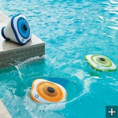floating speakers - great for your pool, lake or even a day at the beach