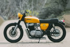 Gold Standard: this 1971 Honda CB750 resto-mod comes from Brandon Wurtz of Rawhide Cycles, Idaho.