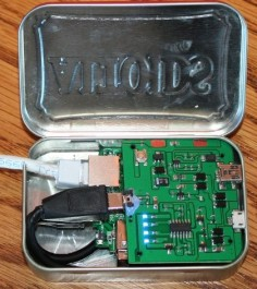"Hacker's Tiny Spy Computer Cracks Corporate Networks: In its smallest version, Kevin Bong's ""Mini Pwner"" spy router can fit inside an Altoids tin. The next time an unexpected ""repairman"" cruises past your company's security desk, you might want to check inside his tin of mints or pack of cigarettes. Especially if he's also carrying an ethernet cable."