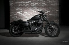 Harley Iron  all blacked  this WILL be mine one day!