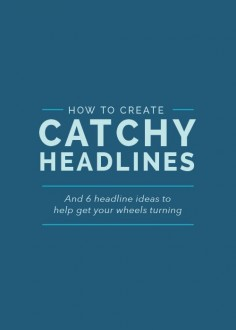 Headlines. Not always your first thought but so important! How to create them on the blog!
