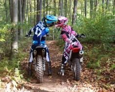 Helmet kiss. Dirt bike couple photography. Motocross love